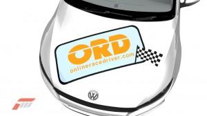 Online Race Driver logo on Forza 3 bonnet